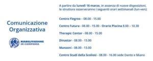comunicazione organizzativa fisioterapia e riabilitazione napoli COVID riabilitazione campania