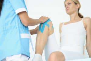 Kinesiotaping per il menisco mediale