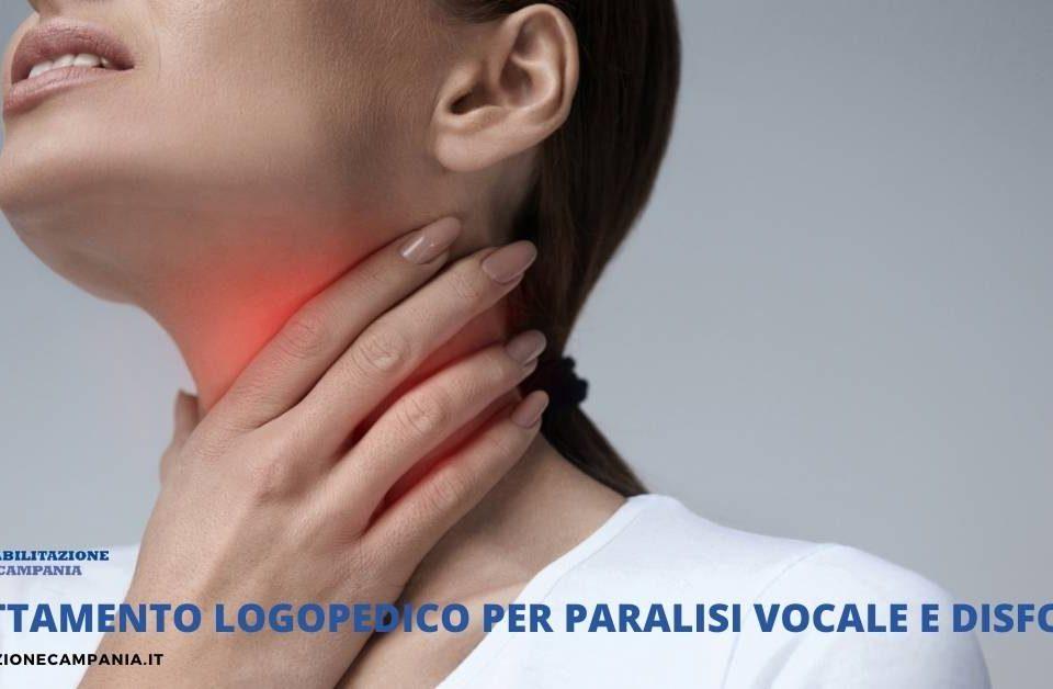 Trattamento logopedico per paralisi vocale e disfonia riabilitazione campania
