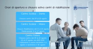 Chiusura centro futura e centro scoliosi riabilitazione in campania napoli