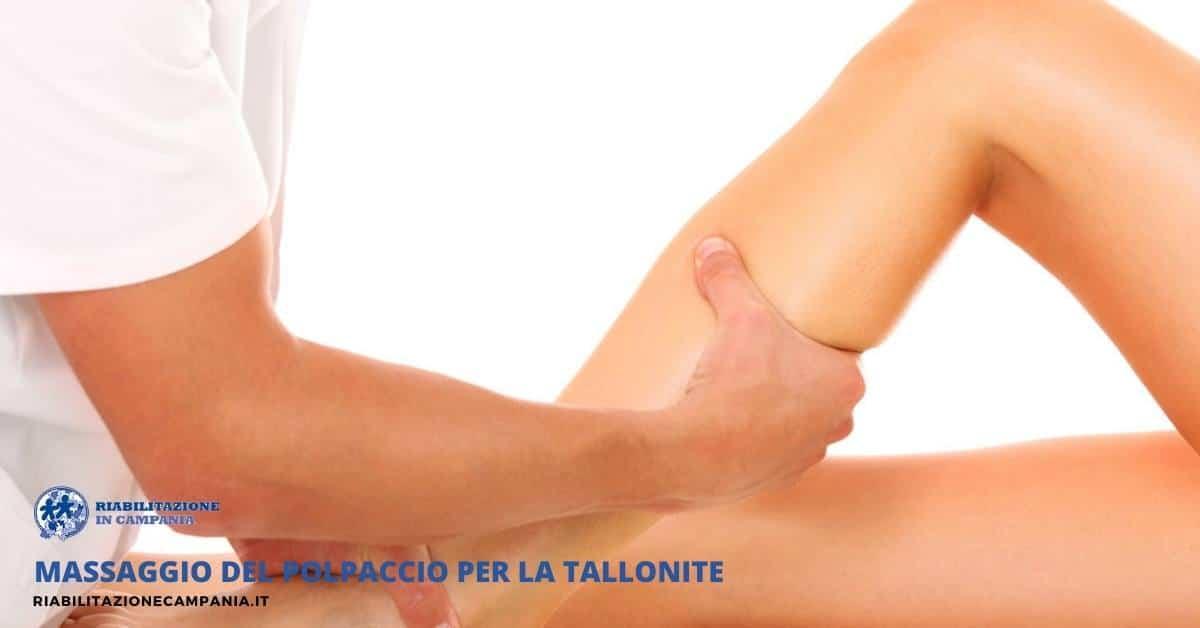 Massaggio del polpaccio per la Tallonite