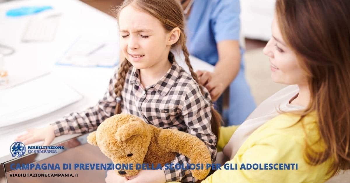 Campagna di prevenzione della Scoliosi per gli adolescenti riabilitazione in campania