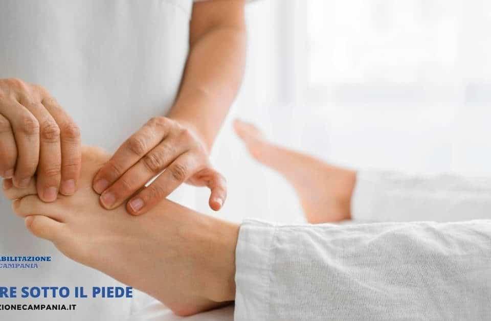 Dolore sotto al piede terapia e riabilitazione a napoli